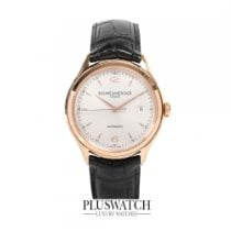 Baume & Mercier Clifton Automatic 18Kt Rose Gold Silver...