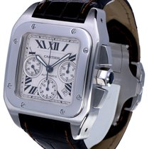 Cartier Santos 100 XL Chronograph Steel Roman Dial (52 x 40 mm)