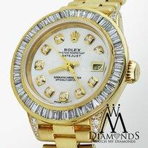 Rolex Presidential 18kt Gold White Diamond Dial-bezel-lugs...