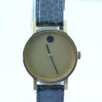 Movado Museum Damen Watch Uhr Rar Stahl Top Quartz 26mm Vergoldet