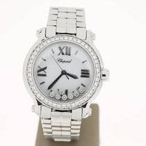 Chopard Happy Sport Steel 36mm 7Diamonds AftersetDiamondBezelB...
