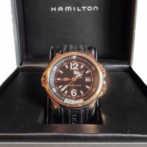 Hamilton Khaki Navy GMT H77545735 Steel 2008 Black Dial 42mm