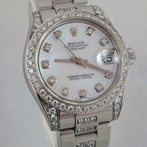 Rolex Datejust 31 Midsize Engraved 178240 Diamond Bezel Lugs...