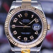 롤렉스 (Rolex) Oyster Perpetual Datejust II Half-gold 41mm Black...