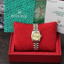 Rolex Ladies Oyster Perpetual 76193 18k Gold & Steel...
