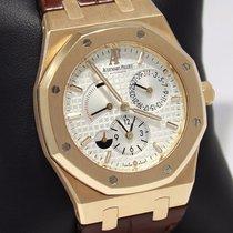 Audemars Piguet Royal Oak Dual Time 18k Rose Gold B&p...