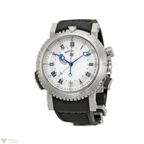 Breguet Marine Alarm 18K White Gold Rubber Men`s Watch