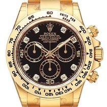 Rolex Cosmograph Daytona 18 kt Gelbgold 116508 Schwarz DIA