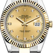 Rolex Datejust 41 126333-GLDDO Champagne Diamond Yellow Gold...