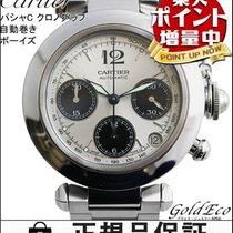 까르띠에 (Cartier) 【カルティエ】パシャC ボーイズ腕時計クロノグラフ デイト表示自動巻き オートマ ATシルバー...