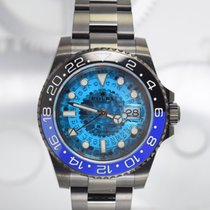 "Rolex GMT-Master II ""Batman Blu Skull"" by Montre Noire"