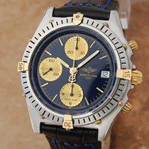 Breitling Swiss Chronomat B13047 39mm Men 18k and  Stainless...