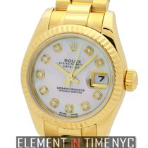 Rolex Datejust President 26mm 18k Yellow Gold MOP Diamond Dial