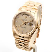 롤렉스 (Rolex) 18k Yellow Gold 36mm President Factory 8+2 Diamond...
