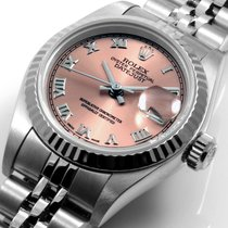 Rolex Ladies 26mm SS Datejust Salmon Roman Dial Jubilee Band...