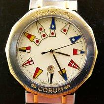 Corum Admirals Cup 34mm Stahl 18K Gold Elegante Herren Armbanduhr