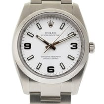 Rolex Air-King 114200 34mm Steel White Arabic 2008 Box/Paper #115