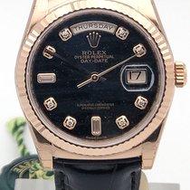 Rolex Day-date 36mm Everose Gold Fluted Bezel Midsize Watch...