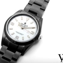 Rolex 2004 PVD/DLC Explorer Custom White Dial 36mm - 114270 model