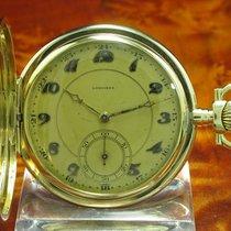 Longines 14kt 585 Gold Savonette Sprungdeckel Taschenuhr Von...