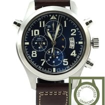IWC Le Petit Prince blue dial double chronograph Ltd 371807 NEW