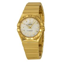 Omega 12350276005004 Constellation Gold Pearl Ladies