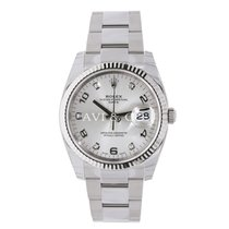 Rolex Date 34 Stainless Steel Silver Diamond Dial UNWORN