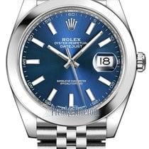 Rolex Datejust 41mm Stainless Steel 126300 Blue Index Jubilee