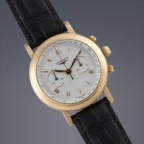 Longines Ernest Francillon 18ct yellow gold manual chronograph...