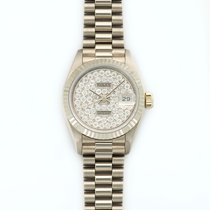 Rolex Lady-Datejust 18K Solid White Gold Automatic Diamonds