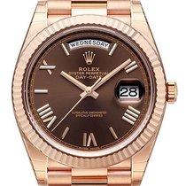 Ρολεξ (Rolex) Rolex Day-Date 40 18 kt Everose-Gold Schoko R