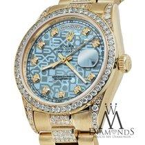 Rolex Presidential Day Date Jubilee Blue Dial Diamond Watch 18...