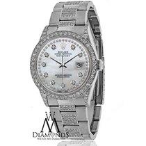 Rolex Diamond Rolex Watch Datejust 16200 36mm Stainless Steel...