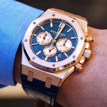 Audemars Piguet Royal Oak Chronograph 41mm Rose Gold Blue...
