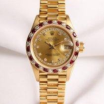 Rolex Lady DateJust 69198 Diamond & Ruby 18k yellow gold