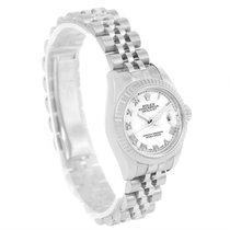 Rolex Datejust Steel 18k White Gold Ladies Watch 179174 Box...