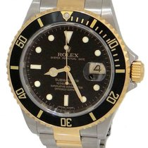 Rolex Mens Rolex Oyster Perpetual Date Submariner Two Tone 18k...