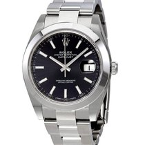 Rolex Unworn 126300OYBKIND Datejust 41mm in Steel with Smooth...