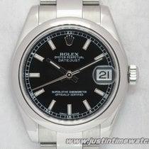 Rolex Oyster DateJust 178240 31mm quadrante nero full set
