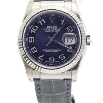 Ρολεξ (Rolex) Datejust 36mm white gold blue dial crocodile 116139