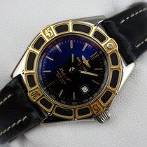 Breitling Lady J Damenuhr - Stahl - Goldlünette - D52065 -...
