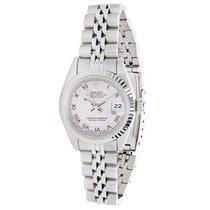 Rolex Datejust 69174 Women's Watch in 14K White Gold &...