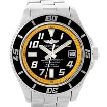Breitling Superocean 42 Abyss Black Yellow Dial Mens Watch A17364
