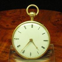 18kt 750 Gold Open Face Taschenuhr Viertel-repetition