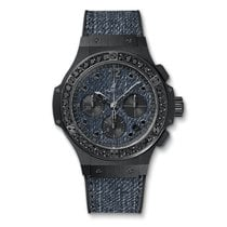 Hublot Big Bang 41mm Jeans Ceramic Ladies Watch Ref 341.CX.274...