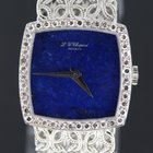 Chopard for lady's white gold, lapiz lazuli dial.