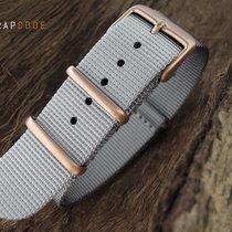 Strapcode G10 NATO Watch Strap, 260mm, IP Champagne, Grey
