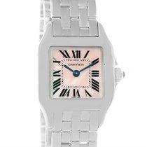 Cartier Santos Demoiselle Mother Of Pearl Watch W25075z5 Box...