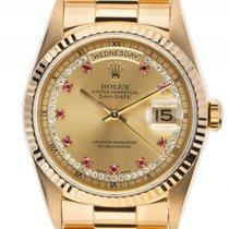 Rolex Day Date Myriad Dial 18kt Gelbgold Diamond Rubin...