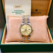 Rolex Datejust or/acier cadran orRef 16013 B/P (1987)